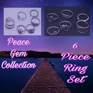 Boho Peace Gem Rings